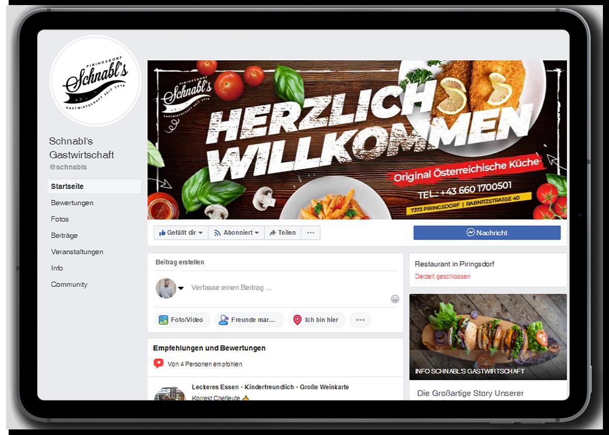 iPad Facebook Schnabls